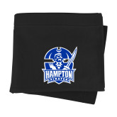 Black Sweatshirt Blanket-Hampton Pirates