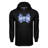 Under Armour Black Performance Sweats Team Hoodie-Hampton Pirates Swords