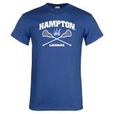 Royal T Shirt-Lacrosse Crossed Sticks