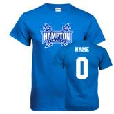 Royal T Shirt-Hampton Pirates Swords, Custom Tee w/ Name and #