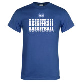 Royal T Shirt-Basketball Stacked Design