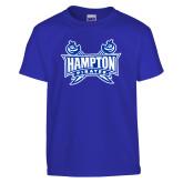 Youth Royal T Shirt-Hampton Pirates Swords