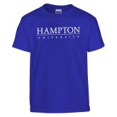 Youth Royal T Shirt-University Mark