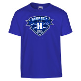 Youth Royal T Shirt-Respect The H