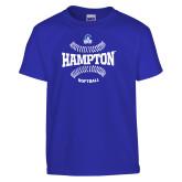 Youth Royal T Shirt-Softball Seams Design