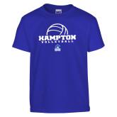 Youth Royal T Shirt-Volleyball Ball Design