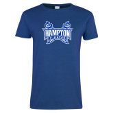 Ladies Royal T Shirt-Hampton Pirates Swords Distressed