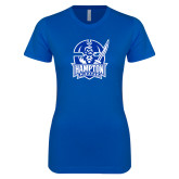Next Level Ladies SoftStyle Junior Fitted Royal Tee-Hampton Pirates