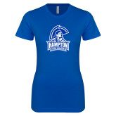 Next Level Ladies SoftStyle Junior Fitted Royal Tee-Hampton Lady Pirates
