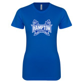 Next Level Ladies SoftStyle Junior Fitted Royal Tee-Football
