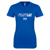 Next Level Ladies SoftStyle Junior Fitted Royal Tee-LAX Design