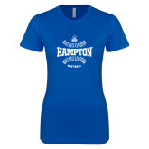 Next Level Ladies SoftStyle Junior Fitted Royal Tee-Softball Seams Design