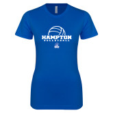 Next Level Ladies SoftStyle Junior Fitted Royal Tee-Volleyball Ball Design