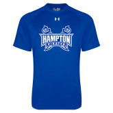 Under Armour Royal Tech Tee-Hampton Pirates Swords