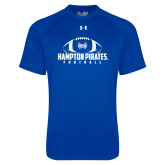 Under Armour Royal Tech Tee-Football Stacked Ball Design