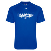 Under Armour Royal Tech Tee-Football Geometric Design