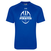 Under Armour Royal Tech Tee-Vertical Football Design