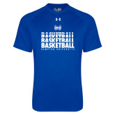 Under Armour Royal Tech Tee-Basketball Stacked Design