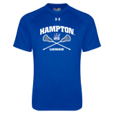 Under Armour Royal Tech Tee-Lacrosse Crossed Sticks