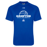 Under Armour Royal Tech Tee-Volleyball Ball Design