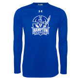 Under Armour Royal Long Sleeve Tech Tee-Hampton Pirates