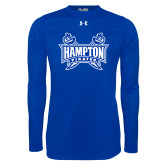 Under Armour Royal Long Sleeve Tech Tee-Hampton Pirates Swords