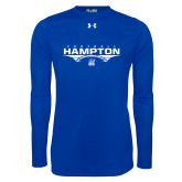 Under Armour Royal Long Sleeve Tech Tee-Football Geometric Design