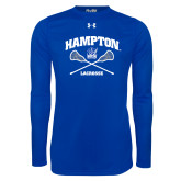 Under Armour Royal Long Sleeve Tech Tee-Lacrosse Crossed Sticks