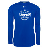 Under Armour Royal Long Sleeve Tech Tee-Softball Seams Design