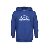 Youth Royal Fleece Hoodie-Football Stacked Ball Design