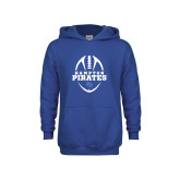 Youth Royal Fleece Hoodie-Vertical Football Design