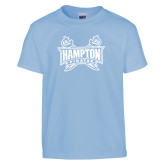 Youth Light Blue T Shirt-Hampton Pirates Swords
