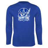 Syntrel Performance Royal Longsleeve Shirt-Hampton Pirates