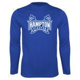 Syntrel Performance Royal Longsleeve Shirt-Hampton Pirates Swords