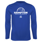 Syntrel Performance Royal Longsleeve Shirt-Volleyball Ball Design