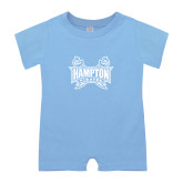 Light Blue Infant Romper-Hampton Pirates Swords
