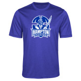 Performance Royal Heather Contender Tee-Hampton Pirates