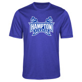 Performance Royal Heather Contender Tee-Hampton Pirates Swords