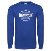 Royal Long Sleeve T Shirt-Softball Seams Design
