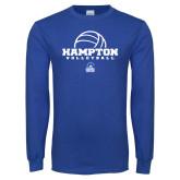 Royal Long Sleeve T Shirt-Volleyball Ball Design