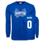 Royal Long Sleeve T Shirt-Hampton Pirates Swords, Custom Tee w/ Name and #