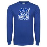 Royal Long Sleeve T Shirt-Hampton Pirates