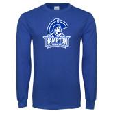 Royal Long Sleeve T Shirt-Hampton Lady Pirates