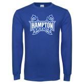 Royal Long Sleeve T Shirt-Hampton Pirates Swords