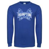 Royal Long Sleeve T Shirt-Hampton Pirates Swords Distressed
