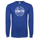 Royal Long Sleeve T Shirt-Basketball Ball Design