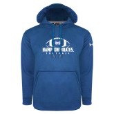 Under Armour Royal Performance Sweats Team Hoodie-Football Stacked Ball Design