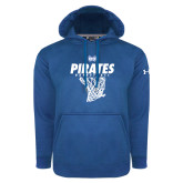 Under Armour Royal Performance Sweats Team Hoodie-Basketball Net Design