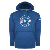 Under Armour Royal Performance Sweats Team Hoodie-Basketball Ball Design