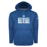 Under Armour Royal Performance Sweats Team Hoodie-Basketball Stacked Design